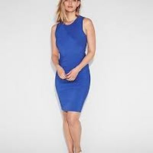 NEW Express ribbed sheath dress blue bodycon sexy